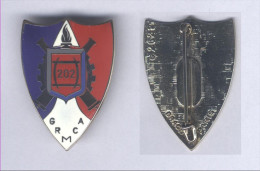 Insignes du 202e Groupe de R�paration du Mat�riel de Corps d�Arm�e