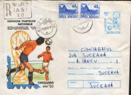 Romania - Stationery Cover Circulated 1994 - Football World Cup 1994 USA - World Cup
