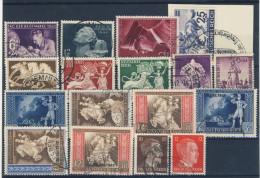 Deutsches Reich Nr. 811 - 827 gestempelt used / kompletter Jahrgang 1942