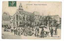 CPA 75 PARIS EGLISE SAINT MEDARD Marchands Camelots Etat Moyen - Petits Métiers à Paris