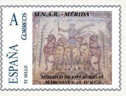 """Spain 2012– España """"Tu Sello"""". Sello Personalizado Del Mosaico Romano """"Marcianus"""" De Mérida - Arte"""