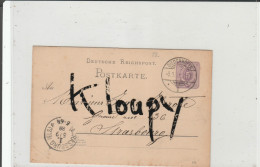Entier Postal  Allemand THIONVILLE - STRASBOURG - Lothringen - Poststempel (Briefe)