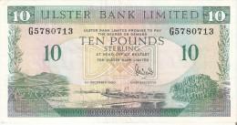 BILLETE DE IRLANDA DE 10 POUNDS DEL AÑO 1990  (BANKNOTE) ULSTER (RARO) - Irlanda
