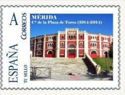 "Spain 2014– España ""Tu Sello"". Sello Personalizado De La Plaza De Toros De Mérida - Monumenti"