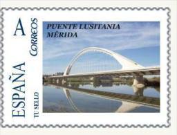 """Spain 2014– España """"Tu Sello"""". Sello Personalizado Del Puente Lusitania De Mérida - Ponti"""