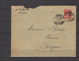 24 - Perigueux - L. Roblin - 1909 - Marcophilie (Lettres)