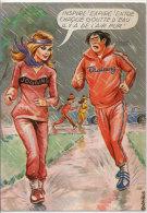 CARRIERE Louis - Couple Jogging - Training - Humour - Flamme Expo De Savoie Chambery  (75859) - Carrière, Louis