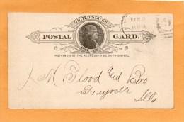 United States 1896 Card Mailed - Ganzsachen