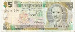 BILLETE DE BARBADOS DE 5 DOLLARS DEL AÑO 2007  (BANKNOTE) - Barbados