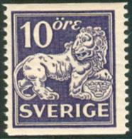 ZWEDEN 1920-34 10öre Staande Leeuw Type II Tanding 13 PF-MNH-NEUF - Neufs