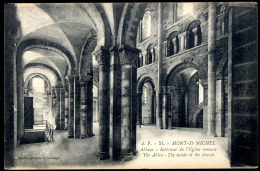 MONT St. MICHEL.- Abbaye. Intérieur De L´Eglise Romane. - Le Mont Saint Michel