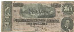 10  $   Confederate States  1864  P.68  XF+ /SPL+ q FdS