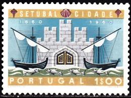 PORTUGAL - 1961,  1.º Centenário Elevação De Setúbal à Categoria De Cidade.  1$00  (*) MNG  Afinsa  Nº 876 - 1910-... Republic