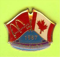 Pin's Mac Do McDonald's Drapeau Canada ( 1er Restaurant 1967) - 8X24 - McDonald's
