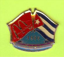 Pin's Mac Do McDonald's Drapeau Cuba ( 1er Restaurant 1986) - 8X28 - McDonald's