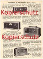 Original Zeitungsbericht - 1929 - Radios , Radioempfang Wie Man Ihn Wünscht , Radio , Volksempfänger  !!! - Literature & Schemes