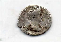 Denier .A/DIVA FAUSTINA  PIA,buste Drapée à Droite/R. CONSEC RATIO.PAON à Droite.176 ROME. - 3. Les Antonins (96 à 192)