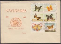1962-FDC-14 CUBA. FDC. 1962. EMISION DE LAS NAVIDADES. CHRISTMAS. ANIMALES. ANIMALS. NATURE. CACHET LILY. - FDC