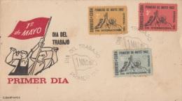 1962-FDC-21 CUBA. FDC. 1962. INTERNACIONAL DEL TRABAJO. 1 MAYO. INTERNATIONAL LABOR DAY. CACHET CUBARTIMPEX. - FDC