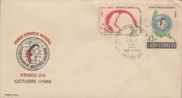 1962-FDC-35 CUBA. FDC. 1962. I CONGRESO FEDERACION DE MUJERES CUBANAS. WOMEN. CACHET CUBARTIMPEX. - FDC