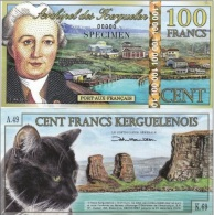 Kerguelen - 100 Francs SPECIMEN 2014 UNC  Ukr-OP - Banknotes