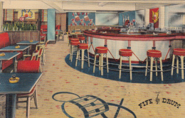Plattsburg New York - Original 1940-1950 - Diners Fife Drum Restaurant Hotel - Unused - VG Condition - 2 Scans - NY - New York