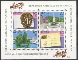 Suisse Schweiz Svizerra Switzerland 1990 Zumstein** Bloc No 72 - Blokken