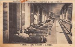 CPA 74 PREVENTORIUM D'RGONNEX HOSPICES CIVILS D'ANNECY GALERIE DE CURE ET DE SOLEIL (cpa Pas Courante - Otros Municipios