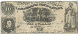10 $  CONFEDERATE STATES  1861  P.29  XF/SPL