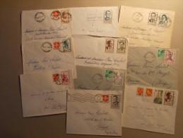 Marcophilie - Lot 10 Enveloppes Periode Affranchissement -  Heros De La Résistance (1) - Postmark Collection (Covers)