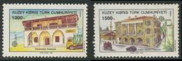 Cyprus Turkish Chypre Turque 1990 Mi 273 /4 ** Yenierenköy Post Office + Ataturk Meydani Post Office / Postamt - Post