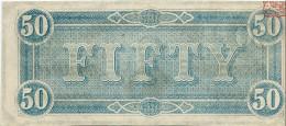 50 $  CONFEDERATE STATES  1864  P.70  UNC/FdS