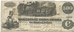 100 $  (!!)  CONFEDERATE STATES  1862  P.43  XF/SPL