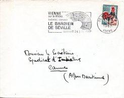 """FRANCE. Enveloppe Ayant Circulé Avec Flamme De 1967. Opéra """"Le Barbier De Séville"""". - Musik"""