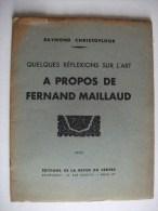 TRES INTERRESSANTE  DOCUMENTATION Sur FERNAND MAILLAUD 1935 - Illustrators & Photographers