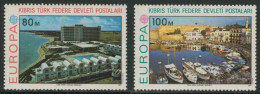 Cyprus Turkish Chypre Turque 1977 Mi 41 /2 ** Hotel Salamis Bay In Famagusta / Magusa + Kyrenia Port / Hafen - Holidays & Tourism