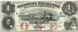1  $  WESTERN EXCHANGE  1857  UNISSUED REMAINDER   a UNC / q FdS