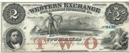 2  $  WESTERN EXCHANGE  1857  UNISSUED REMAINDER    UNC /  FdS