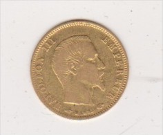 5 Francs Or   Napoléon III Empereur Tête Nue  1858  A - Or
