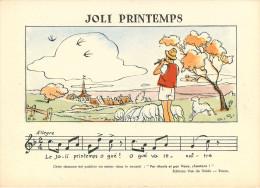 Chromos & Images - Illustrateurs - Joli Printemps - Allègre - Illustrateur R.G. - Par Monts Et Par Vaux ,  Chantons ! - Oude Documenten
