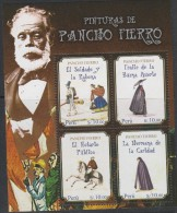 O)  2014 PERU, PAINTINGS, PACHO FIERRO, SOUVENIR MNH - Peru