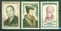 René Coty, Président De La République - FRANCE - Jean Calvin - Pape Sylvestre II - 1964 - France