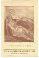 EH73 - Communion Pascale 1950 - Paroisse SAINT LOUIS Alsace Haut Rhin - - Images Religieuses
