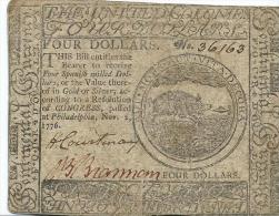 40 $  CONTINENTAL CURRENCY    PHILADELPHIA  1776  P.S.126    F +/ aVF     MB/ q BB   FOR ISSUE