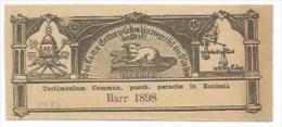 EH82 - Testimonium Commun. Pasch. Peractae In Eclesia - 1898 - BARR Alsace Bas Rhin - - - Images Religieuses