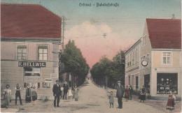 AK Bahnhofstrasse Ortrand Geschäft Hellwig Tankstelle Gasthof Bahnhof ? Bei Ruhland Lauchhammer Senftenberg Elsterwerda - Ortrand