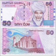 Kyrgyzstan - 50 Som 2002 UNC Ukr-OP - Kyrgyzstan