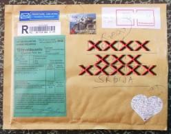 REGISTRED, CUSTOMS AIR CROATIA - TOWN STONE LUBENICE ISLAND CRES 2010, Valentine Day / Airmail OMIS LABEL - Kroatië