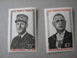 S P M   P 419/420 * *    GENERAL  DE GAULLE - Neufs