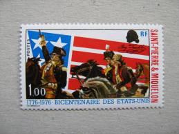 1975 S P M  P 449 **  Bicentenaire De L Independance Des Etats Unis - Neufs
